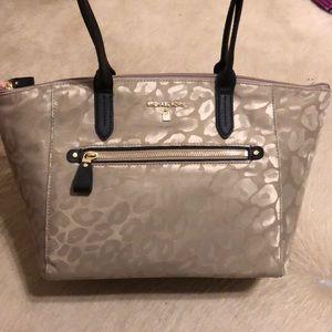 Michael Kors Kelsey Medium Leopard Nylon Tote Bag